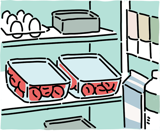冷蔵庫で梅干しを保存