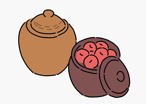 耐久性のある壺や瓷で保管する