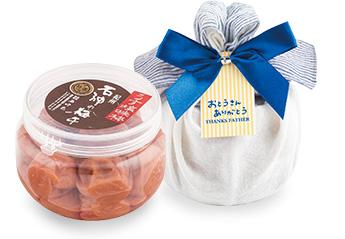 うす塩味梅干 ペット330g ハンカチ包み