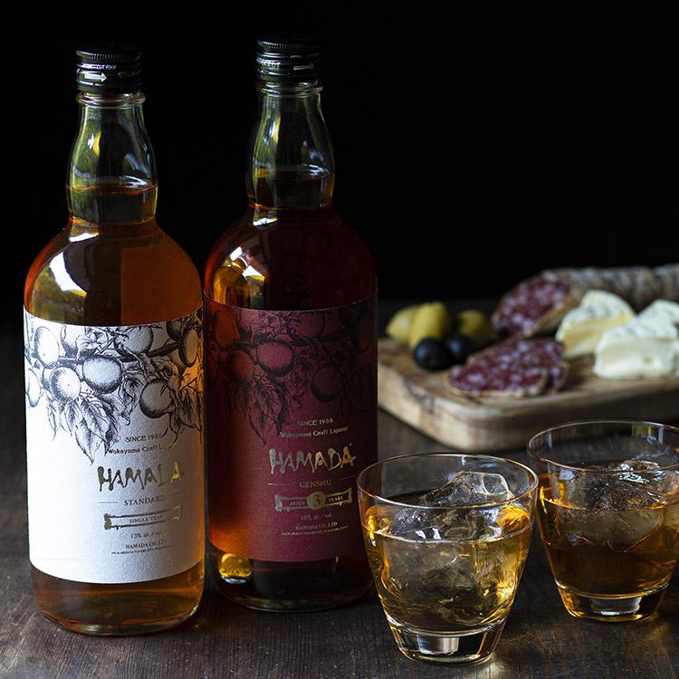 梅酒「HAMADA」レッド&ホワイト父の日ギフト梅酒2本セット