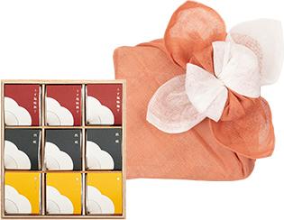 花咲く花ふきんセット個包装(9粒入木箱)